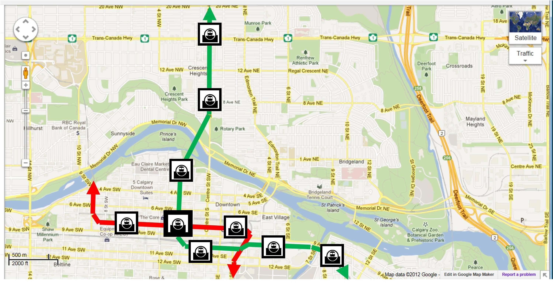 Calgary Transit Maps Bing Images